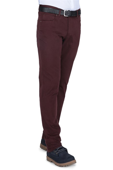 Buenza Radikal 5 Cep Slim Fit Pantolon -  Bordo