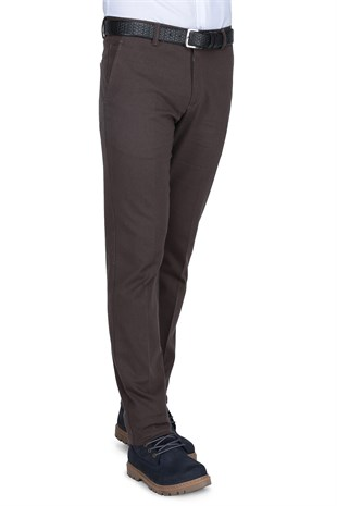 Buenza Auris Casual Slim Fit Pantolon -  Kahverengi