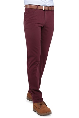 Buenza Casablanka 5 Cep Slim Fit Pantolon -  Bordo