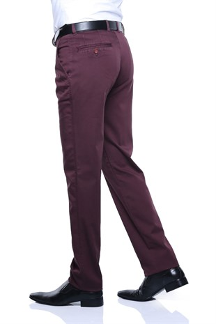 Buenza Martin Sulfur Yan Cep Slim Fit Pantolon - Bordo