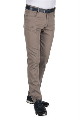 Buenza Ruby Sulfur 205_5 Cep Slim Fit Pantolon -  Bej