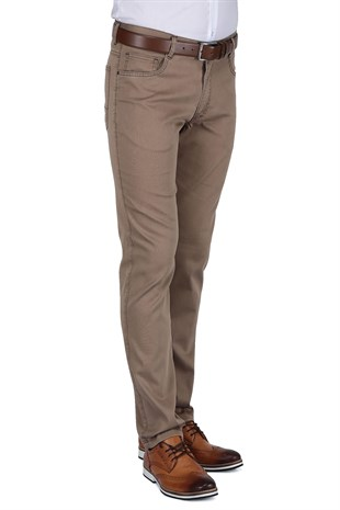 Buenza Ruby Sulfur 205_5 Cep Slim Fit Pantolon -  Toprak