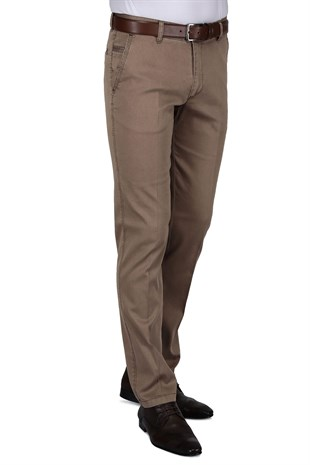 Buenza Ruby Sulfur Casual Slim Fit Pantolon -  Toprak