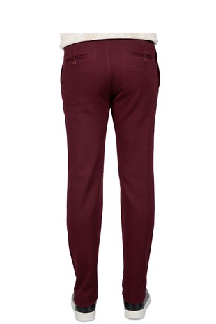 Bnz Sanora Casual Slim Fit Bordo Erkek Pantolon